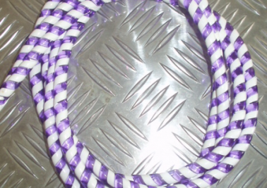 Cable candy stripes purple