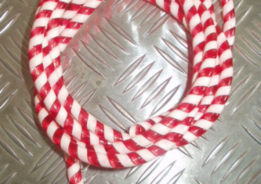 Cable candy stripes RED