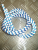 Cable candy stripes BLUE