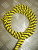 Cable candy stripes YELLOW BLACK