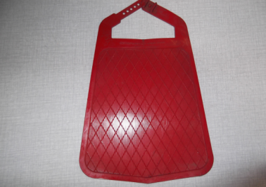 Mudflap Metalplast red