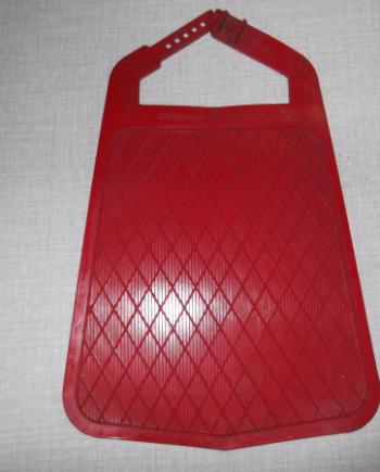 Mudflap Metalplast red